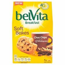 Belvita Breakfast Chocolate Chip Soft Bakes 5 Pack 250g (Pack of 4)