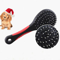 Dog Cat Hair Cleaning Double Sided Pet Bath Brush Shedding Grooming Comb Tool