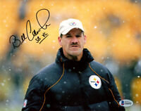 BILL COWHER SIGNED AUTOGRAPHED 8x10 PHOTO + SB XL STEELERS LEGEND BECKETT BAS