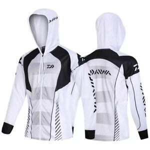 New 2020 Daiwa Men Fishing Clothings Windproof Zipper Jacket Anti-Mosquito Coat