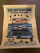 Dave Matthews Blue variant Van 2018 Tour Poster print. Signed #'d. Sold out
