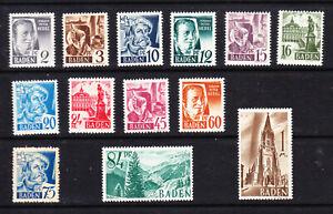 Baden 1947 set  MNH  L5953