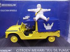 CITROEN MEHARI MICHELIN 2CV Dyane la collection officielle 1/43 DIECAST + homme Je