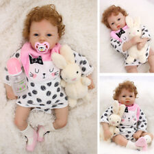 "20"" Reborn Baby Doll Silicone Real Lifelike Toddler Bebe Boy Alive with Clothes"