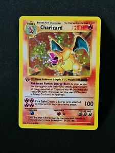 Proxy Charizard Glurak Pokemon Card with Holoeffect