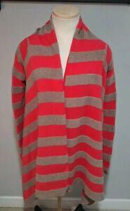 Neve Striped Asymmetrical Open Cardigan Sweater Sz XS