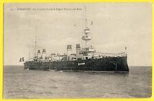 cpa VAISSEAU vu RADE de SAINT NAZAIRE en 1908 CROISEUR CUIRASSE DUPETIT THOUARS