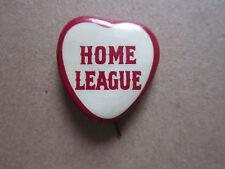 Home League Heart Pin Badge Hat Tie Lapel Button