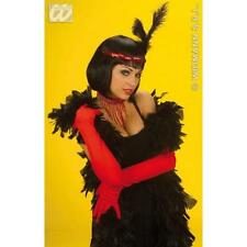 Ladies Long Red Cotton Gloves 60cm Moulin Rouge Dancer Can Can Fancy Dress