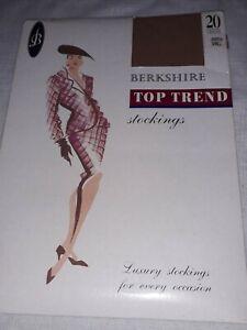 Vintage Berkshire 20 denier Jasmin luxury sized nylon stockings. Size Small