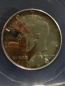 1969-S  KENNEDY HALF DOLLAR - ANACS - PR68 - INV#4177