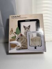 "Ceesc Pet Door for Cats, Small Dogs (Outer Size 8.5"" x 7.5""), 4 Way Locking New"
