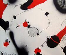 Künstlergrafik Offset-Lithografie von Josep Guinovart signiert  (guin0001)