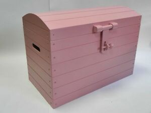 PINK Wooden Trunk Chest Storage Toy Box Bed Furniture Wood Ottoman Basket LARGE