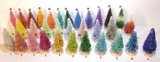 Mini Miniature Sisal Bottle Brush Xmas Christmas Trees * Your Color Choice! *