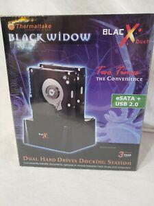 Thermaltake Black Widow BlacXduet 2.5/3.5 eSATA USB Docking Station Hard Drive