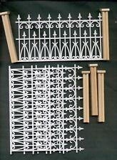 Vittoriano Recinzione & Post Set - 1/12 Scala Casa Delle Bambole Per NW200P 9pcs