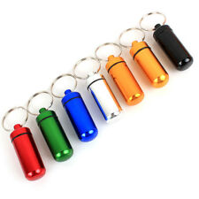 Portable 1Pcs Mini Travel Aluminum Waterproof Keychain Pill Box Case Bottle New