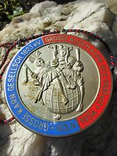 Rare german carnival Badge Medal Jester Fool Fools Cologne from 1954 enamel