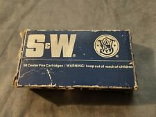 Vintage S&W Ammo Box For 9mm 115gr Hollowpoint (No Ammo Included)