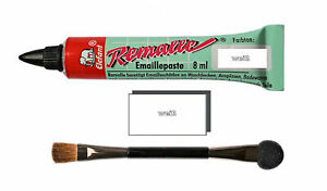 Remalle Emaille Paste Emaillelack Reparaturlack Lack in weiß 8 ml inkl. Pinsel