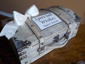 Wood Wedding Card Box Trunk, Rustic Shower Wedding Decor, Shower Wishing Well