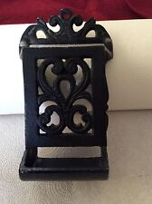 Vintage Cast Iron Matchbox Holder