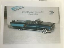 Danbury Mint 1958 Pontiac Bonneville Convertible *Internet Pic & Title Only*