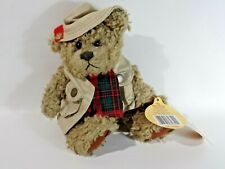"Brass Button Bear Collection 1997 Tanner Beige Vest & Hat 11"" Fully Jointed"