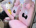 Pink Cartoon Hello Kitty Universal Car Seat Cover Cushion Accessory Plush Tla3