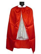 Kids Red Super Hero Vampire Devil Halloween Cape Capes Fancy Dress Costume