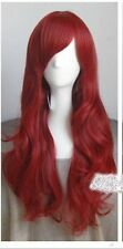 DISNEY THE LITTLE MERMAID ARIEL Curly wave RED WIG cosplay wig Free Shipping