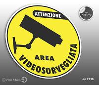 Cartello adesivo Area Videosorvegliata negozio/studio/laboratorio/officina