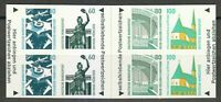 Germany 1991 MNH Mi 1531-1534 MH27 Sc 1663a Booklet pane Historic Sites **
