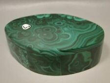 Gemstone Box Malachite Jewelry Box 4 inch Oval Blessing #O3