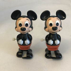 2 Mickey Mouse Wind Up Toys Walt Disney Products TOMY  1 working, 1 not working