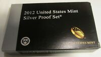 2012 Silver Proof Set U.S. Mint Original Box and COA 14 coins Lowest Mintage