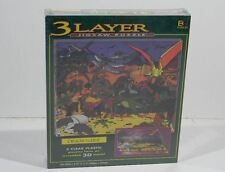 1994 3 Layer Jigsaw Puzzle Dinosaurs In 3D