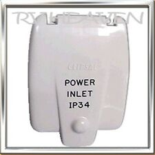 CLIPSAL IP34 240 POWER INLET  FLAP COVER CARAVAN  CAMPER  ACCESSORY BRAND NEW