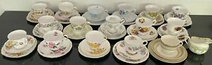 Royal Doulton Colclough vintage high tea cup sets saucer plate trio floral china