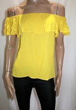 Target Collection Brand Yellow Off the Shoulder Blouse Top Size 6 BNWT #TR82