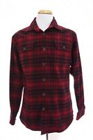 Jachs Flannel Mens Thick Work Button Down Shirt Brawny Tartan Plaid Red Sz M