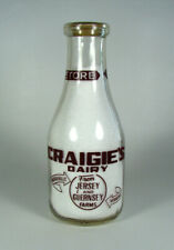TRPQ old MORRISVILLE, VERMONT VT / CRAIGIE'S DAIRY Jersey Guernsey milk bottle