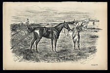 SHALL NEVER SEE 'EM AGAIN TODAY 1883 Finch Mason Horses LITHOGRAPH