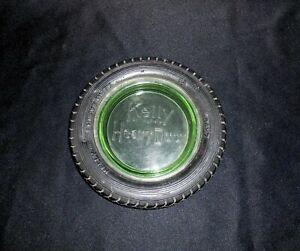 Vintage Kelly Springfield Heavy Duty Tire Ashtray with Green Insert
