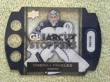 2013-14 Upper Deck ONDREJ PAVELEC Clear Cut Stoppers Diecut #d/100 Winnipeg Jets