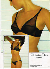 PUBLICITE ADVERTISING 025  1979  CHRISTIAN DIOR  lingerie soutien gorge