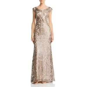 Tadashi Shoji Womens Off-The-Shoulder Sparkle Lace Evening Dress Gown BHFO 1844