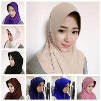 Women Fashion Muslim Hijab Islam Scarf  Cap Pullover Headscarf Basic Inner Hat