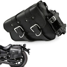 Motorcycle Left Saddlebag Tool Bag + Fuel Oil Bottle Holder For Harley Sportster